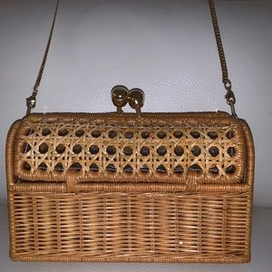 Serpui Jenna Wicker Clutch Basic I Natural